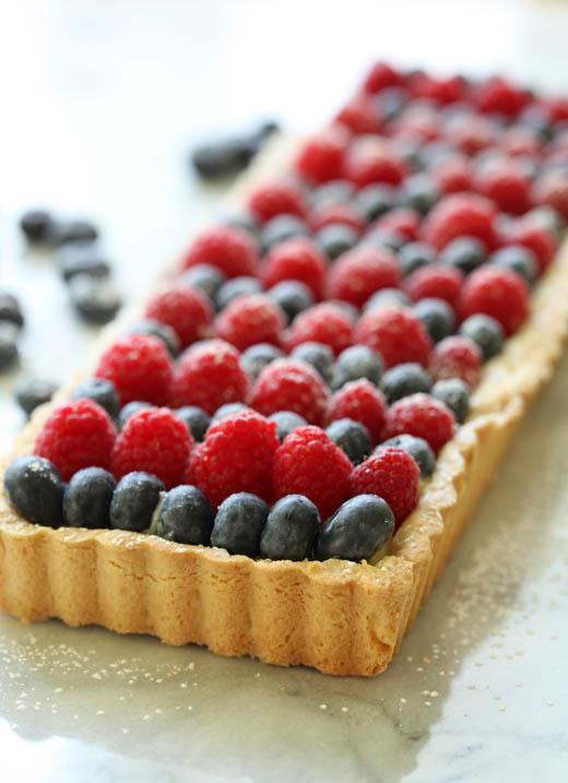 White Chocolate Berry Tart Recipe | ZoëBakes | Photo by Zoë François