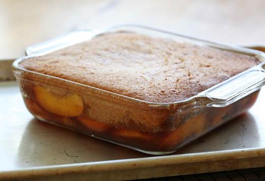 Peach upside down cake | ZoëBakes | Photo by Zoë François