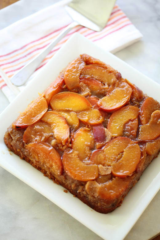 Peach Upside Down Cake | ZoëBakes | Photo by Zoë François