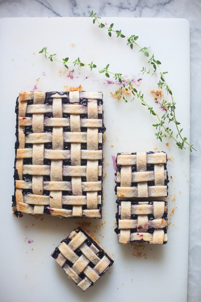 Blueberry Bars | ZoeBakes photo by Zoe Francois