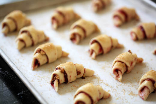 How to make Rugelach | Rugelach recipe - Raspberry, Nuts and Chocolate wrapped in Cream Cheese Dough | Photo by Zoë François