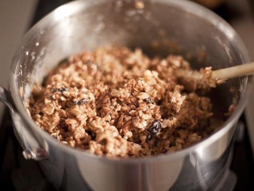 Crispy rice treats mixture | ZoëBakes | Photo by Zoë François