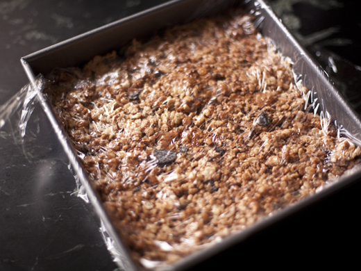 Crispy rice treats in a pan | ZoëBakes | Photo by Zoë François