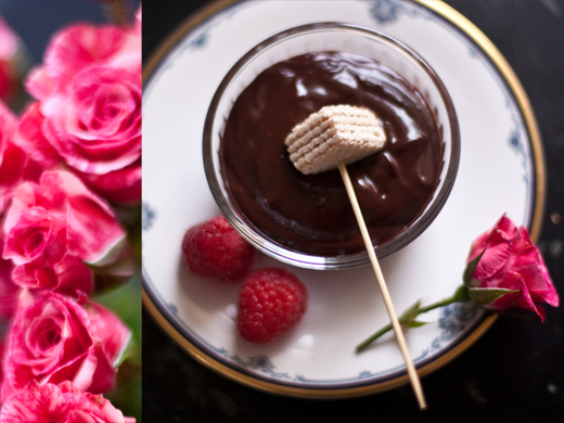 Chocolate fondue recipe | ZoëBakes | Photo by Zoë François