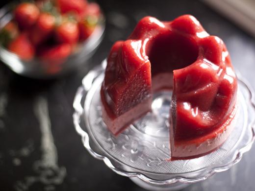 Homemade Jello With Strawberries Recipe | ZoëBakes | Photo by Zoë François