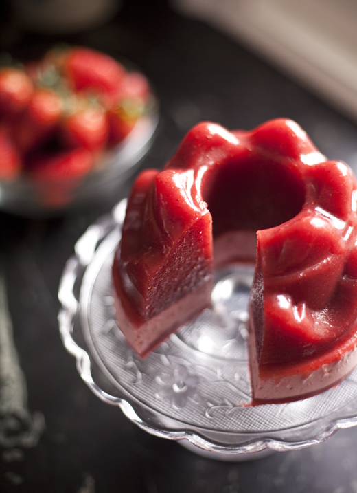 Homemade Jello With Strawberries Recipe | ZoëBakes | Photo by Zoë François