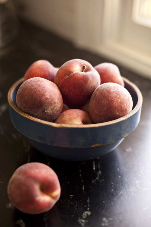 Bowl of Fresh Peaches | ZoëBakes | Photo by Zoë François