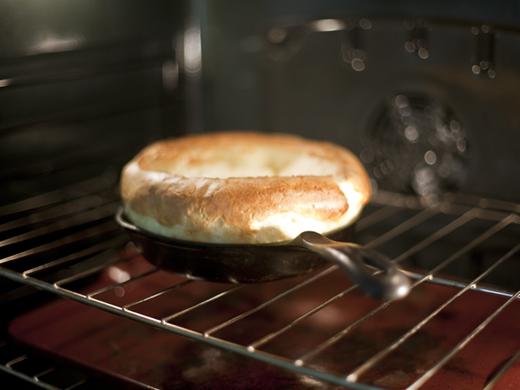 Puffy Popover Pancake in the oven | ZoëBakes | Zoë François