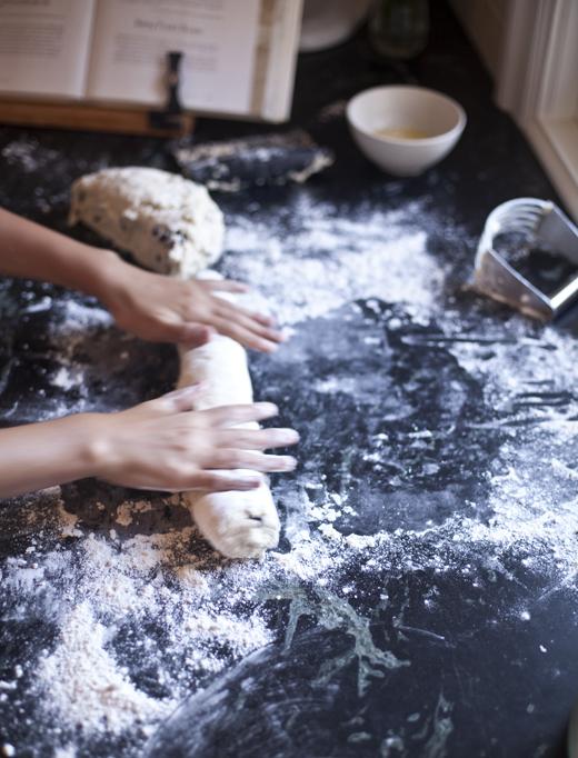 Rolling Scone Dough | ZoëBakes | Photo by Zoë François