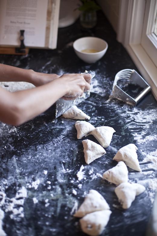 Cutting Scones | ZoëBakes | Photo by Zoë François