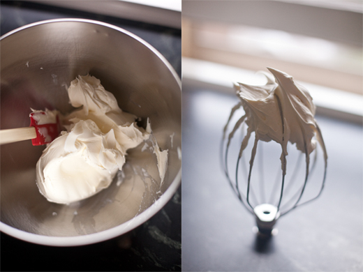 Whisking Mascarpone and Heavy Cream for Tiramisu Filling | photo by Zoë François