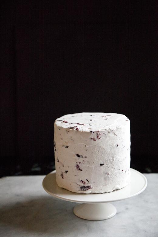 Chocolate Cherry Cake with Marsala Cream | ZoeBakes | Photo by Zoë François