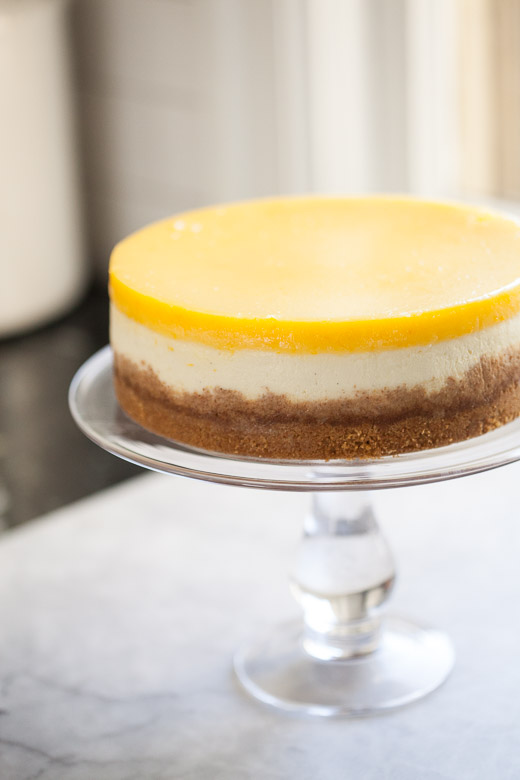 Lemon Curd Cheesecake Recipe | ZoëBakes | Photo by Zoë François