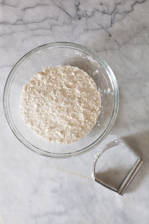 How to Make Flaky Biscuits   Cutting the butter into the dry ingredients