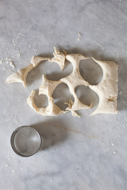 How to Make Flaky Biscuits   Cut the dough with a biscuit cutter