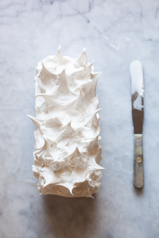 Ice Cream Cake Topped With Meringue  | ZoëBakes | Photo by Zoë François