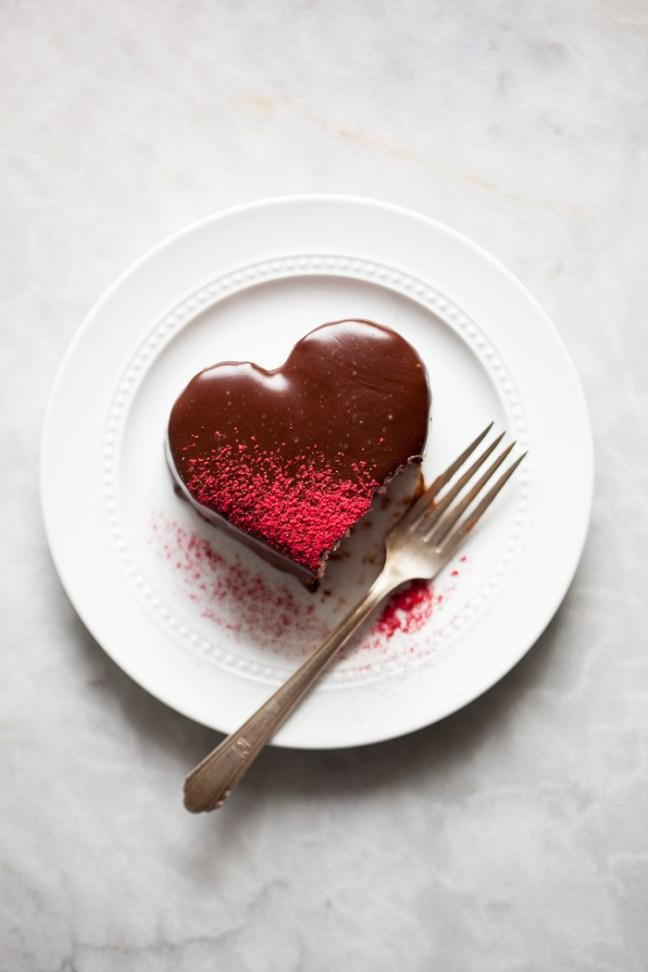 Chocolate Heart Cake | ZoëBakes | Photo by Zoë François