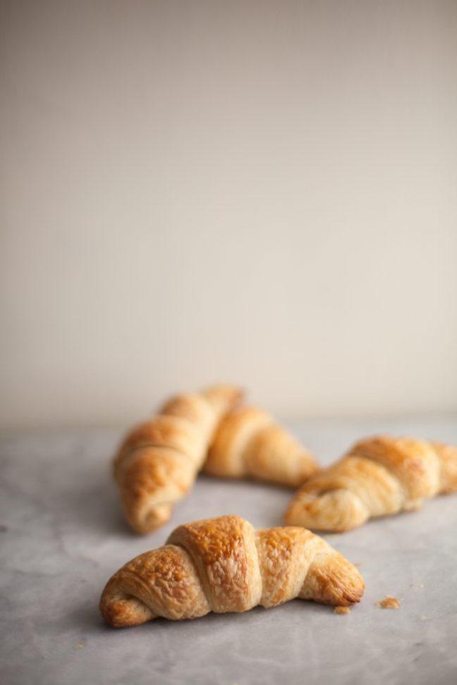 Buttery, golden brown croissants   Photo by Zoë François
