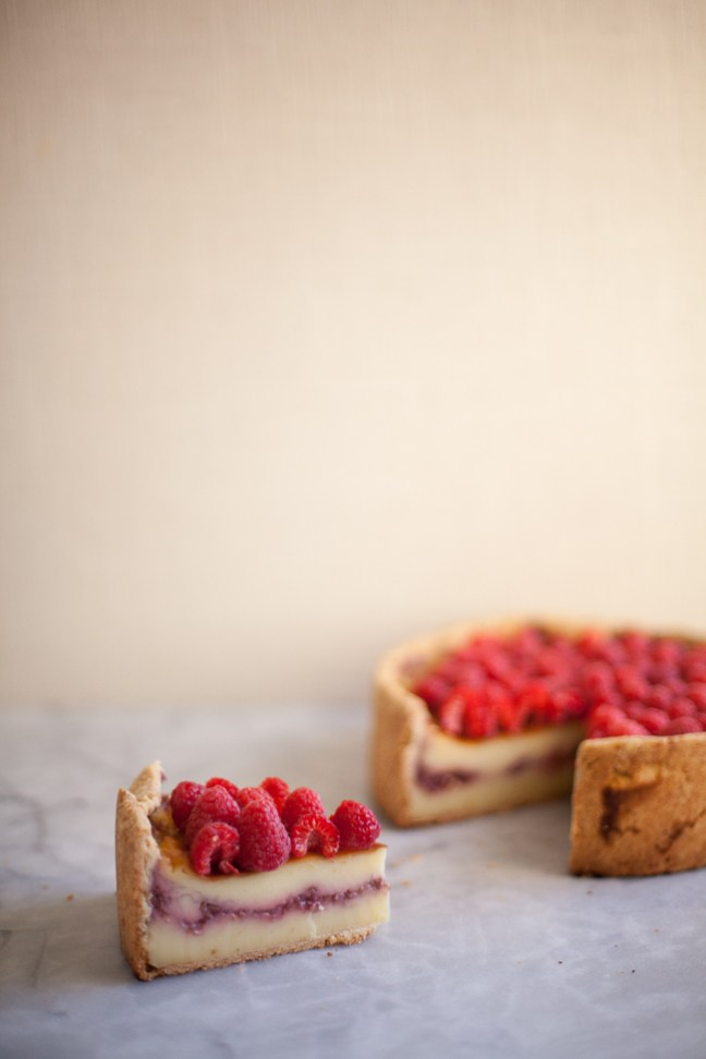 Raspberry Custard Tart (Flan Parisien) | Photo by Zoë François