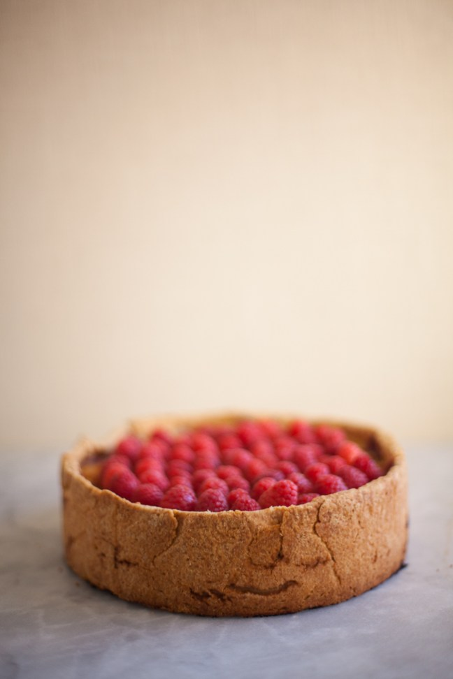 Raspberry Custard Tart (Flan Parisien) | Photo by Zoë François