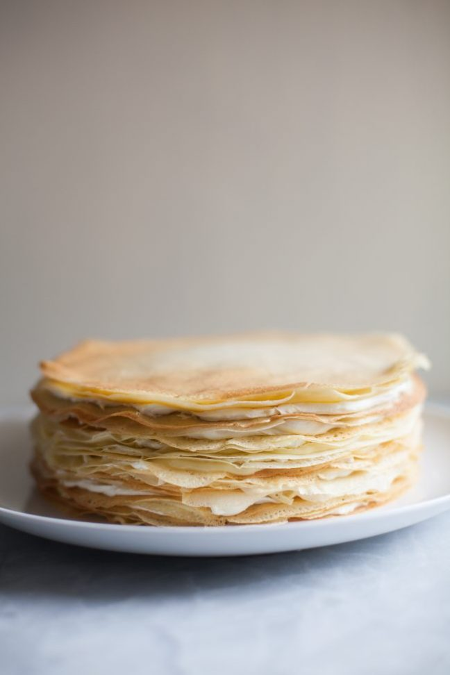 Lemon Mascarpone Crêpe Cake | photo by Zoë François