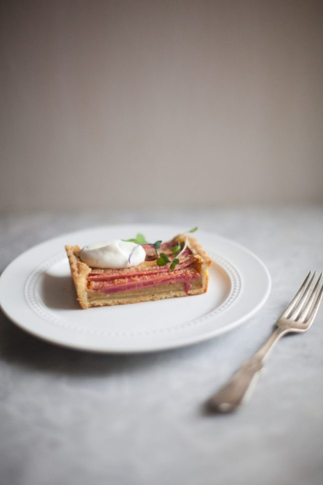 Rhubarb and Brown Butter Tart | photo by Zoë François