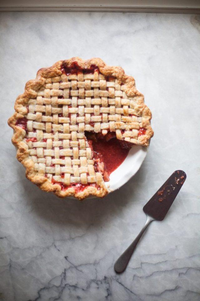 Strawberry Rhubarb Pie   ZoeBakes by Zoe Francois