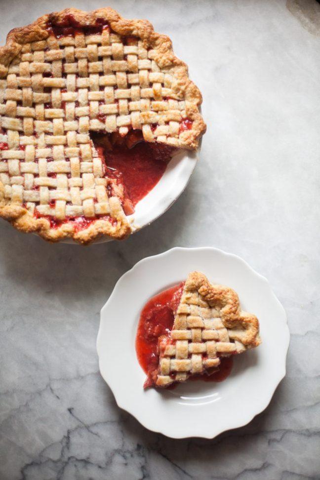 Slice of Strawberry Rhubarb Pie | photo by Zoë François