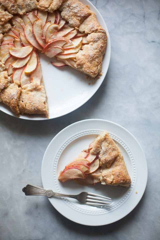 Apple Galette on a marble countertop
