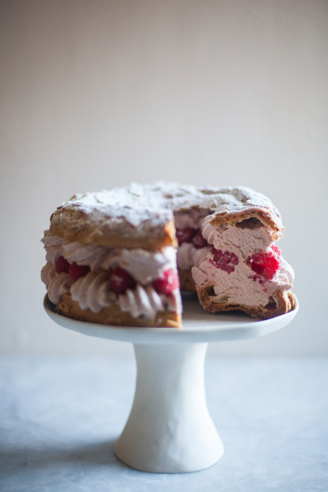 Raspberry Paris Brest | ZoeBakes photo by Zoë François