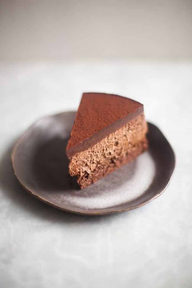 Triple Chocolate Mousse Cake | ZoeBakes photo by Zoë François