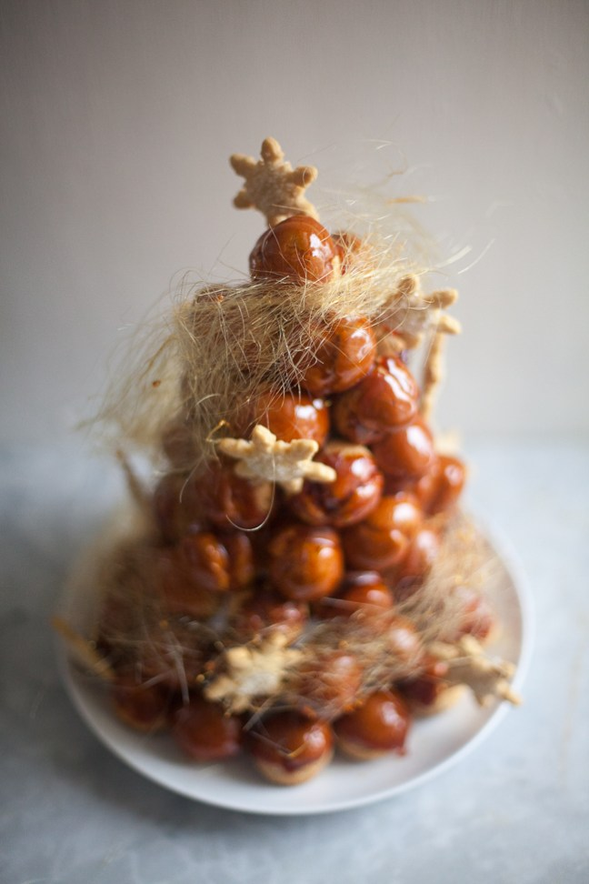Christmas Croquembouche | ZoeBakes photo by Zoë François