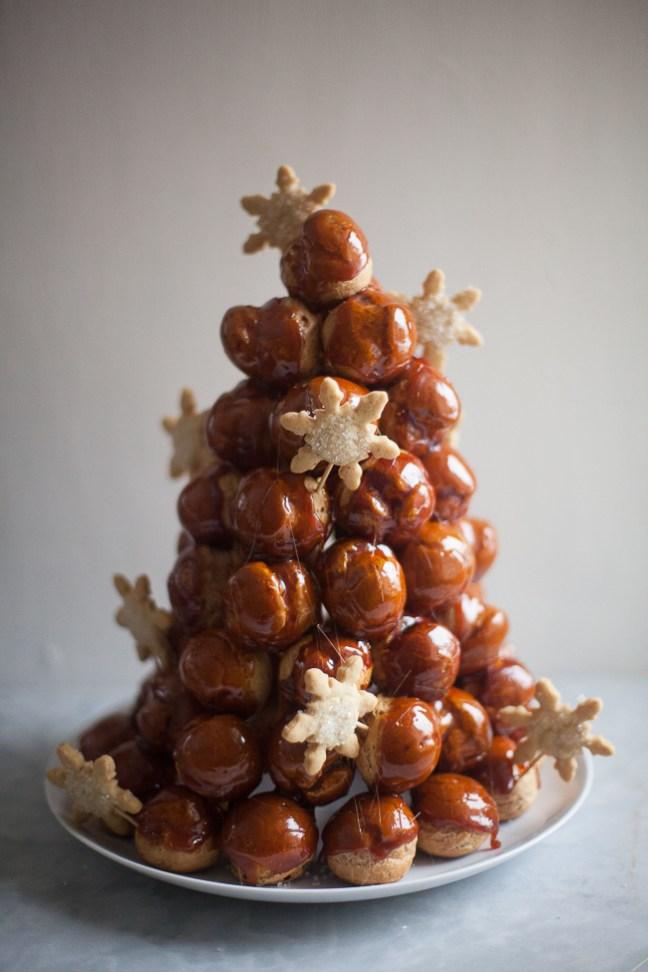 Christmas Croquembouche | ZoeBakes photo by Zoë François