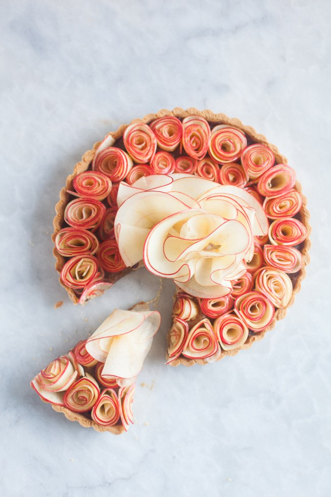 Apple Butter Rose Tart | ZoeBakes photo by Zoë François