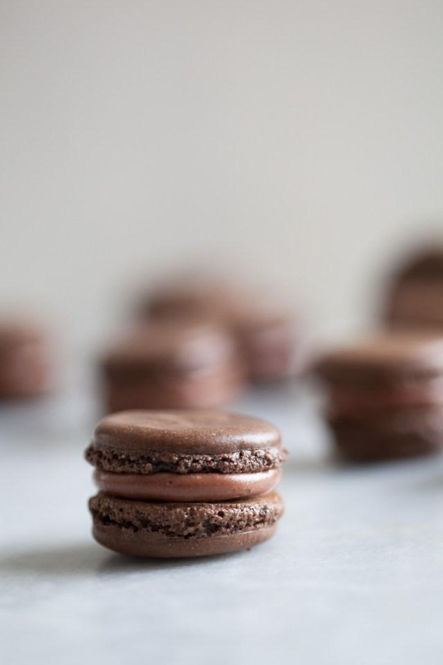 Chocolate macarons | ZoeBakes photo by Zoë François