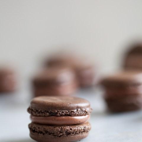 Chocolate macarons   ZoeBakes photo by Zoë François