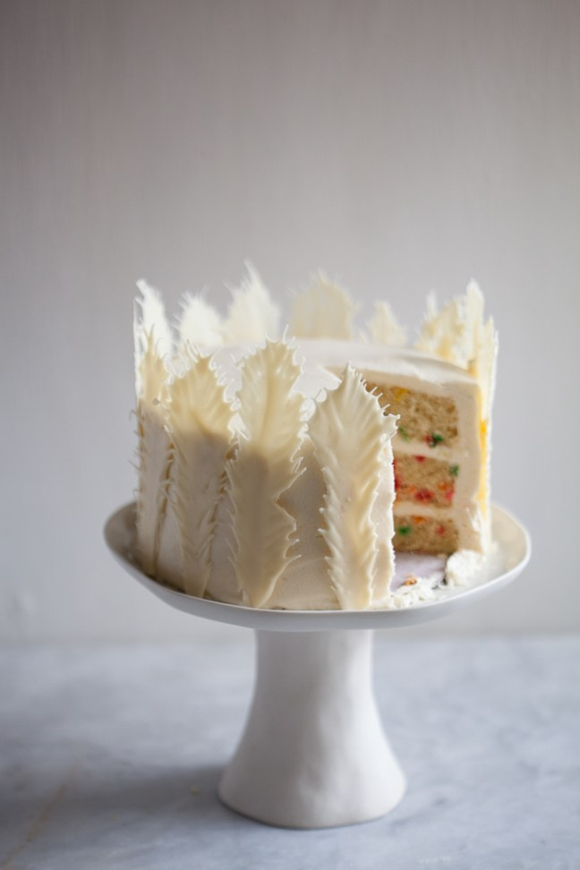 Funfetti Feather Cake | ZoëBakes photo by Zoë François