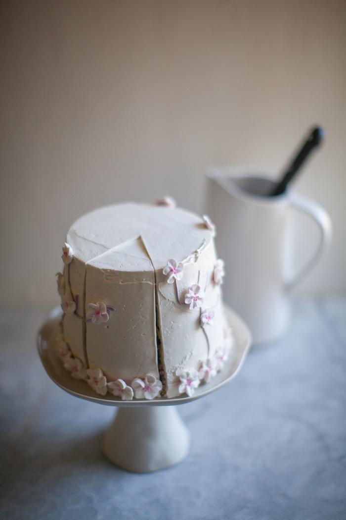 Pleasant Cherry Blossom Cake Zoebakes Eat Dessert First Birthday Cards Printable Giouspongecafe Filternl