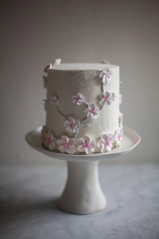 Cherry Blossom Cake | zoebakes photo by Zoë François