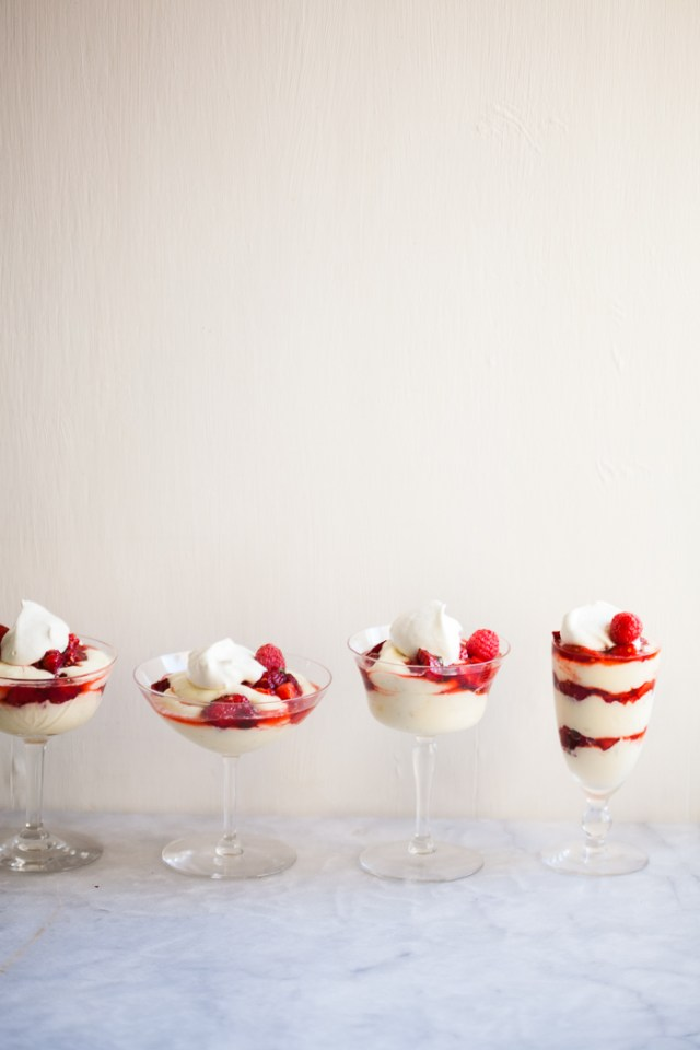 Strawberry Fool with Lemon Curd and Strawberry Coulis | ZoeBakes by Zoe Francois