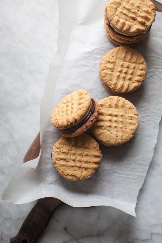 Peanut Butter Sandwich Cookies | ZoeBakes