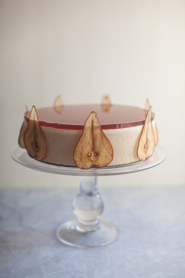 Pear Panna Cotta Cake | ZoeBakes photo by Zoë François