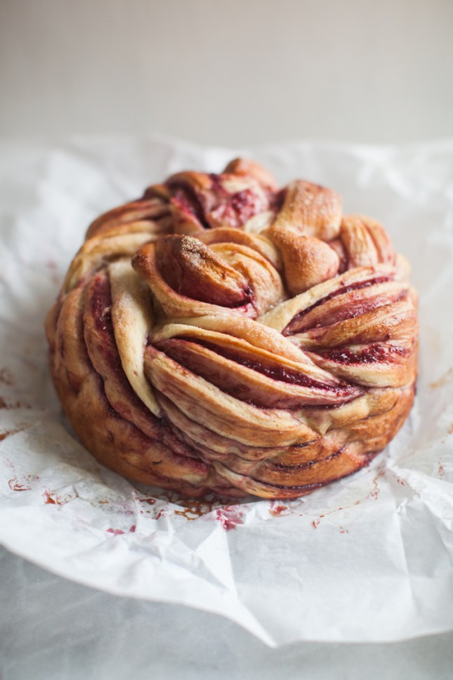 Raspberry Swirl Bread from Do-It-All Dough | ZoeBakes photo by Zoë François