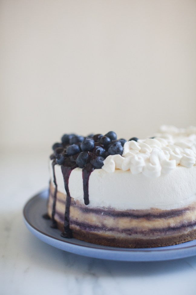 Blueberry Cheesecake Recipe | ZoëBakes | Photo by Zoë François
