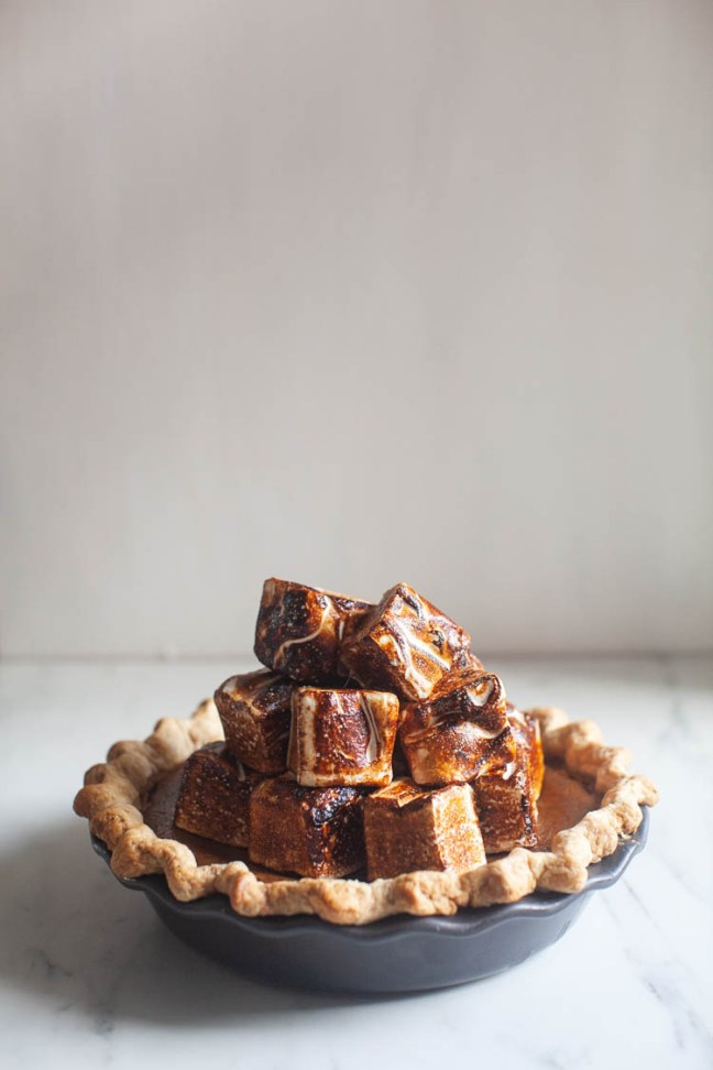 Pumpkin Pie with Marshmallows | ZoeBakes photo by Zoë François