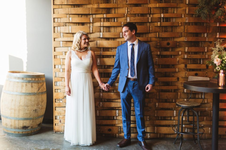 Why I decided to have a small wedding - bride and groom getting married at Bluxome St Winery, San Francisco | Zoe Larkin Photography