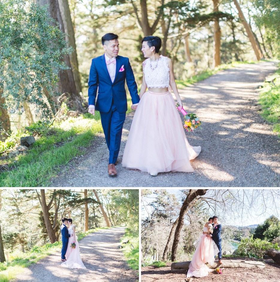 strawberry hill san francisco wedding photography couple walking