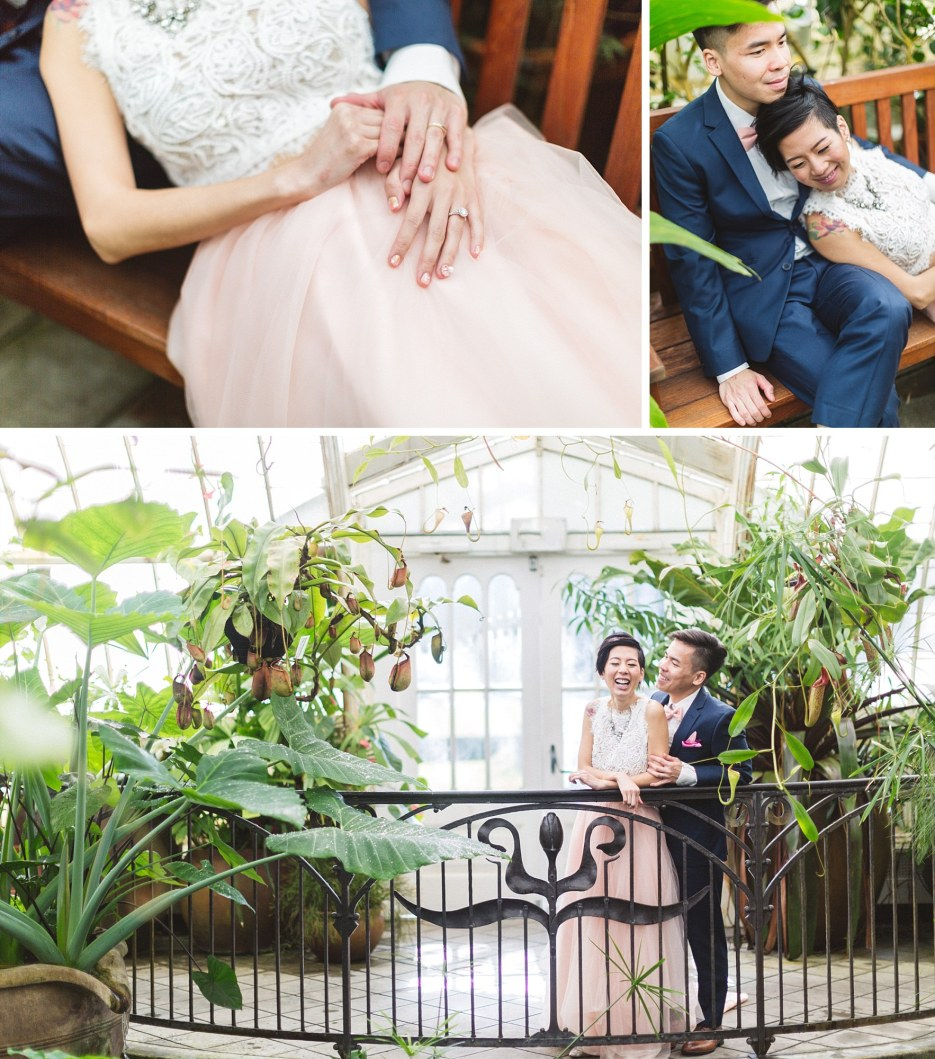 asian couple wedding photos sf conservatory of flowers