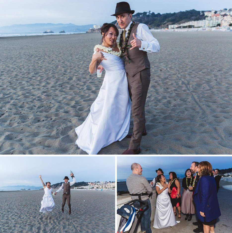 meaningful ocean beach wedding photography with quirky couple hawaiian style