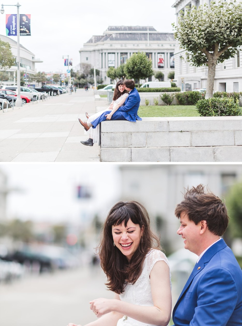 wedding photography outside war memorial opera house san francisco